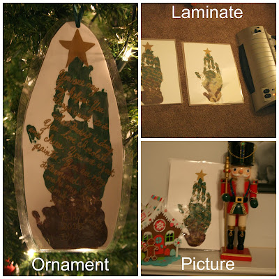 The Spirit of Christmas book and Memory hand print craft