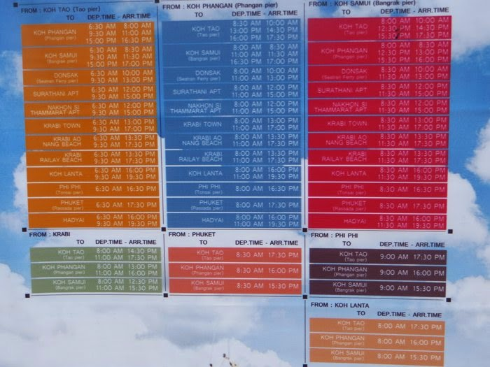 Расписание парома с острова Самуи