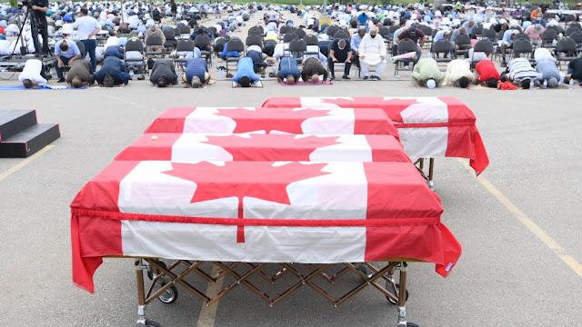 Ratusan Orang Hadiri Pemakaman Keluarga Muslim Kanada yang Jadi Sasaran Islamofobia