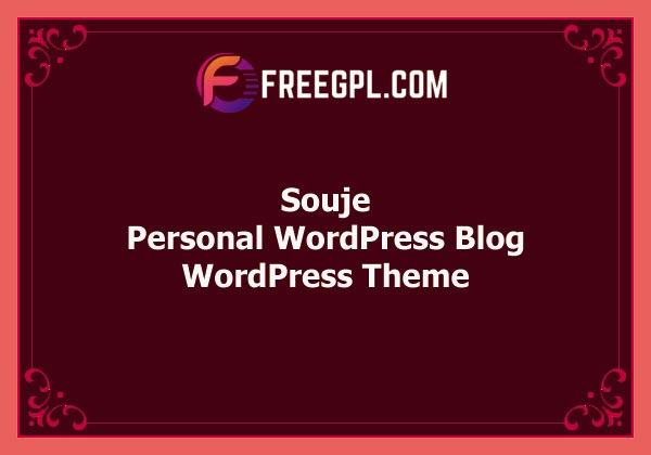Souje – Personal WordPress Blog Theme Free Download