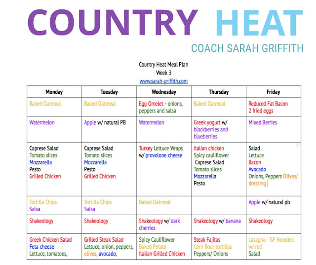 country heat nutrition guide, gluten free country heat meal plan,what is country heat, country heat meal plan, country heat womens transformation, sarah griffith, top beachbody coach, country heat recipes,