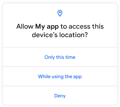 one-time location access