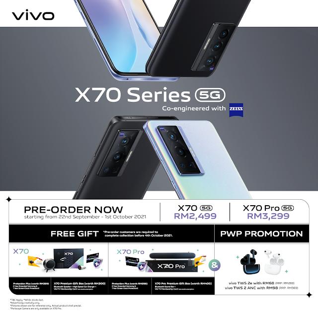 vivo x70 series pre-order