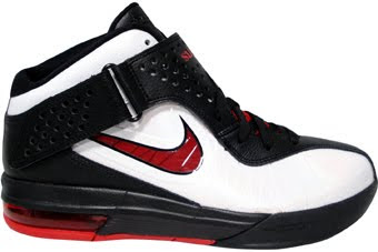 THE SNEAKER ADDICT  Nike Air Max LeBron Soldier V White Sport Red ... 71fd235d0649