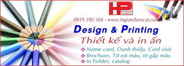 In ấn thiết kế quảng cáo chuyên nghiệp giá rẻ Bến Cát Bình Dương