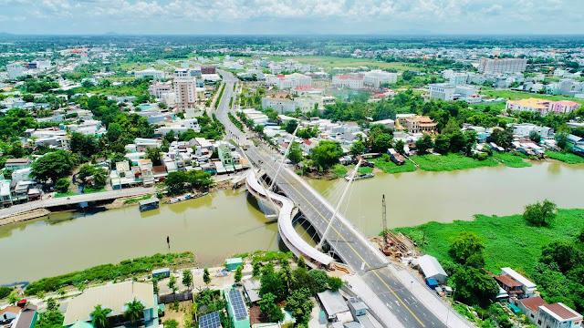 Chuẩn bị khánh thành cầu Nguyễn Thái Học dài 128m tại TP. Long Xuyên