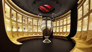 The impressive trophy room at AC Milan's Mondo Milan museum in Milan