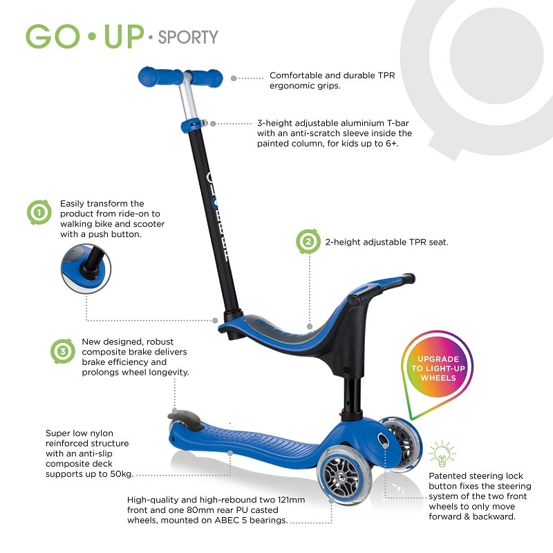 globber go up scooter features