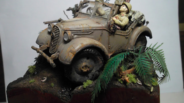 1/35 scale model WW2 Pacific jungle diorama