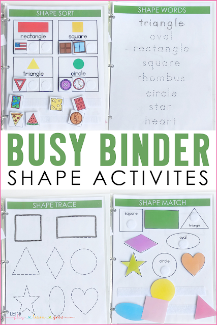 Busy Binder Shape Activities