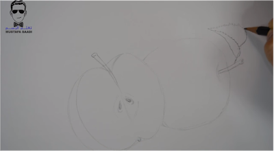 تعلم رسم تفاحة