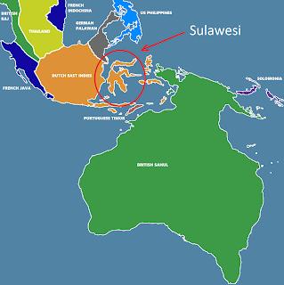 sahul, sundaland, and sulawesi map