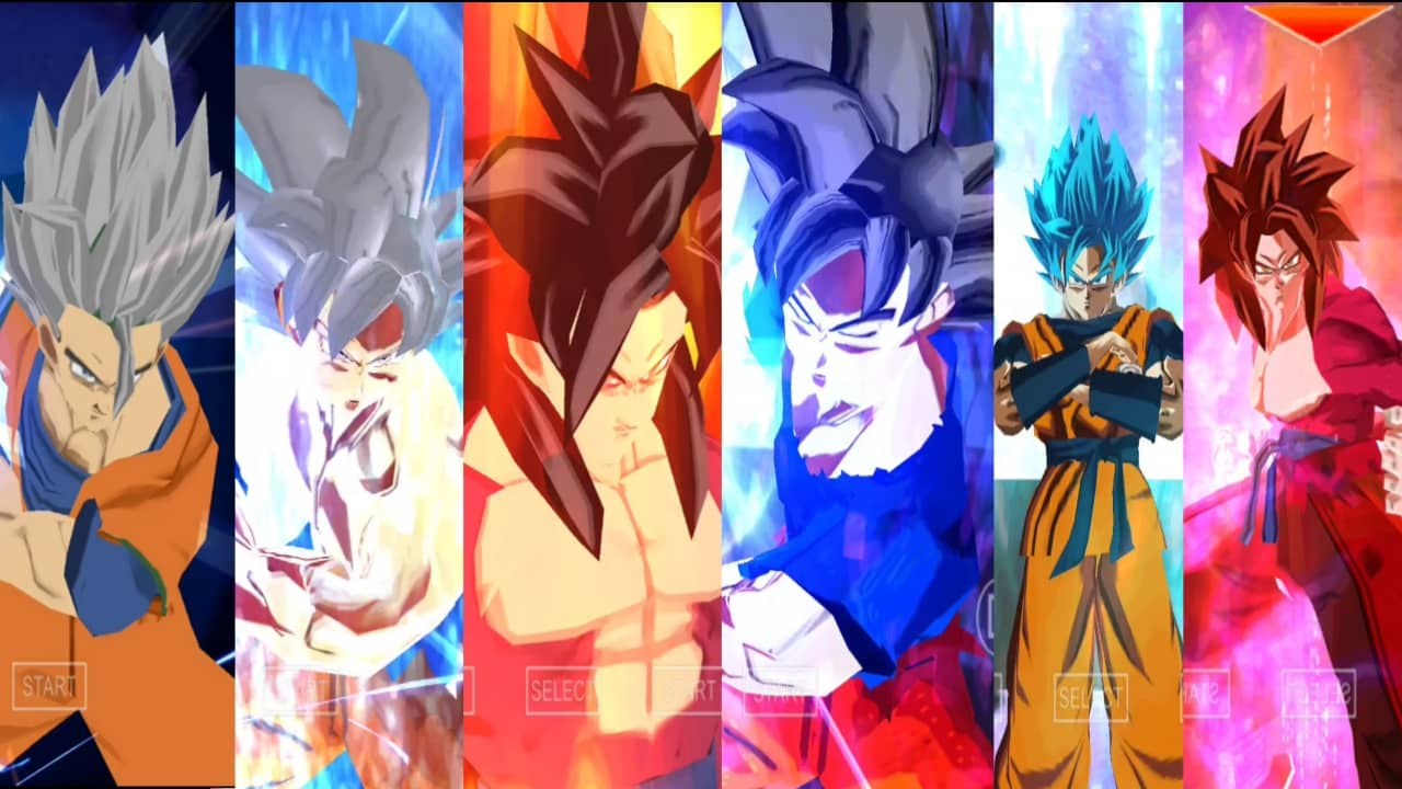 Goku all Faces DBZ TTT Mod