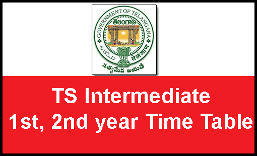 TS Inter supply time table 2019-2020 tsbie exam dates