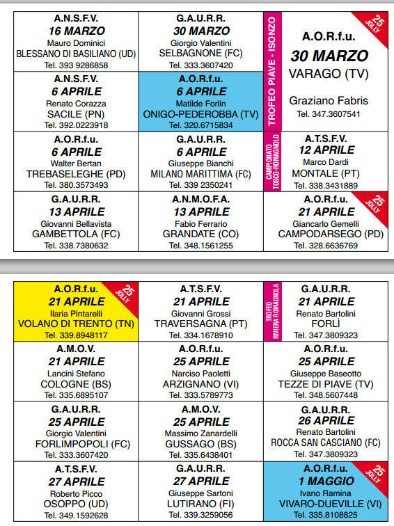 Trento Fiere Calendario.Fiera Degli Uccelli Calendario Fimov 2014 Calendario Fiere