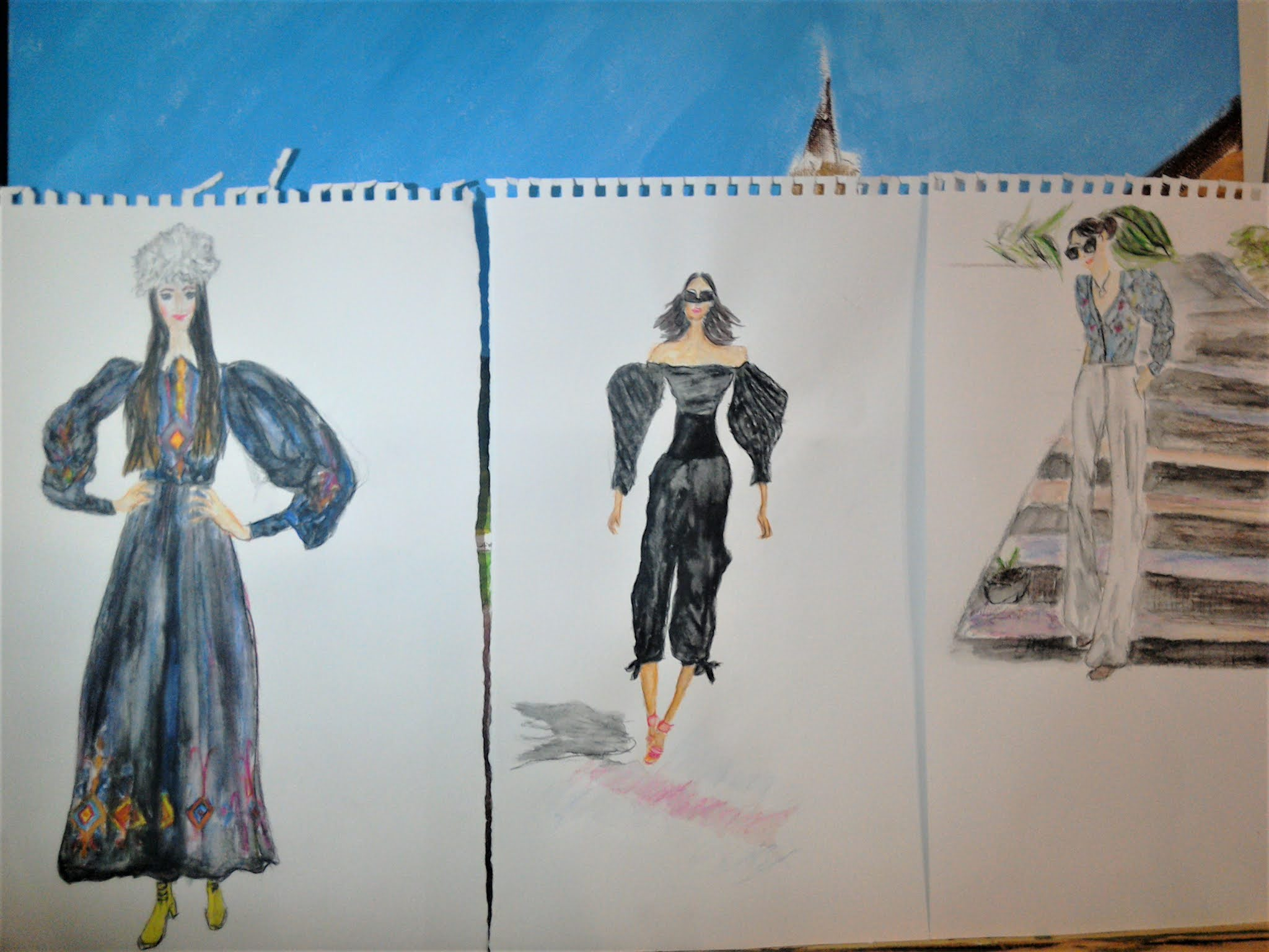 #modaodaradosti illustrating fashion bloggers