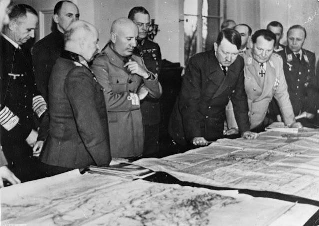 Hitler and Mussolini in Salzburg 29 April 1942 worldwartwo.filminspector.com