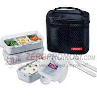 Lock & Lock HPl754DB Lunch Box 3P Set with Black Bag