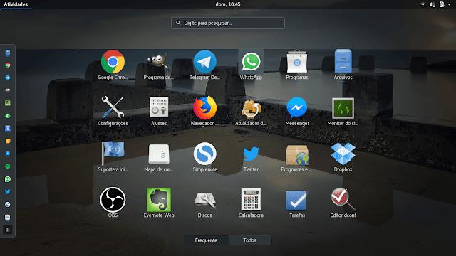GNOME Shell Vanilla no Ubuntu 18.04 LTS
