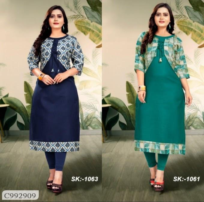 Latest Cotton Kurtis Combo of 2 Online Shopping In India   Kurti Online Shopping   Best Kurti For Women  