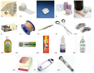 Daftar Alat-alat Dan Obat-obatan Yang Dipergunakan untuk pertolongan pertama pada kecelakaan P3K