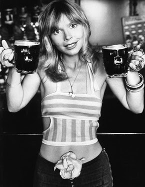 Katy Manning with Beers