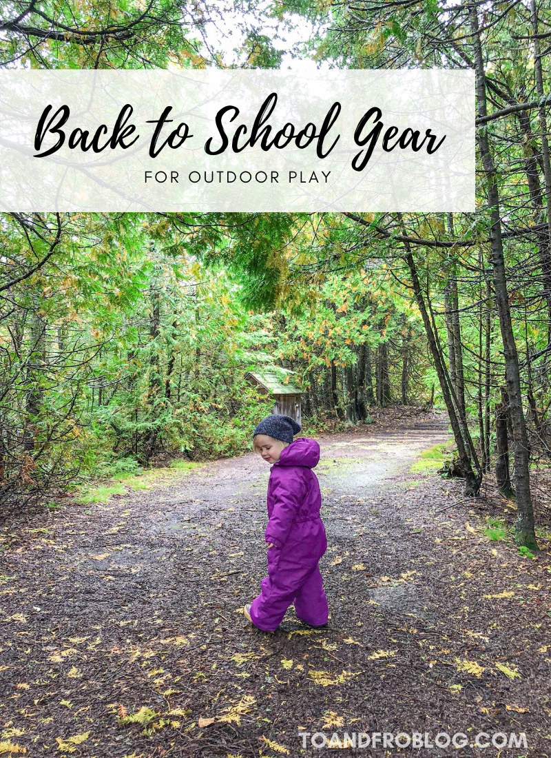 Back to School Gear for Outdoor Play MEC Toaster Suit