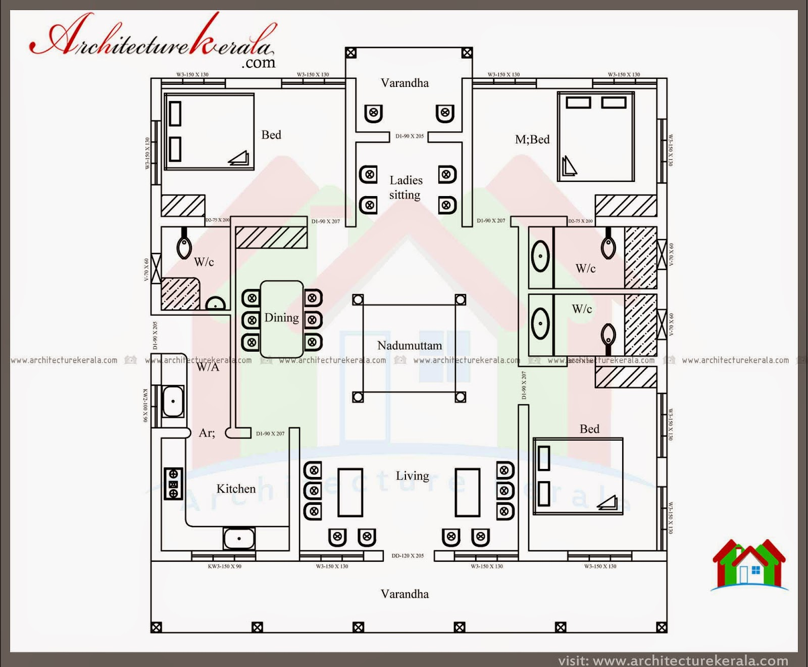 Typical Kerala Nalukettu Type Home Plan in 2000 Sq Ft with ...