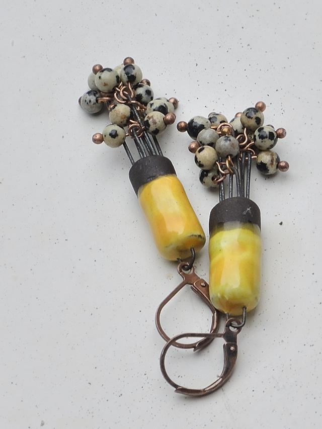 DIY: oorbellen/earrings 'Cephalopoda'