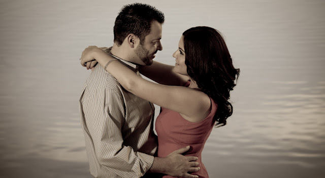Couple in romantic mood as contstant love making keeps healthier
