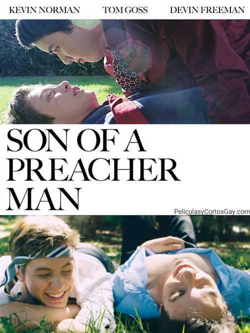 """CARTEL CORTOMETRAJE """"El Hijo de un Predicador""""  """"Son of a Preacher Man"""""""