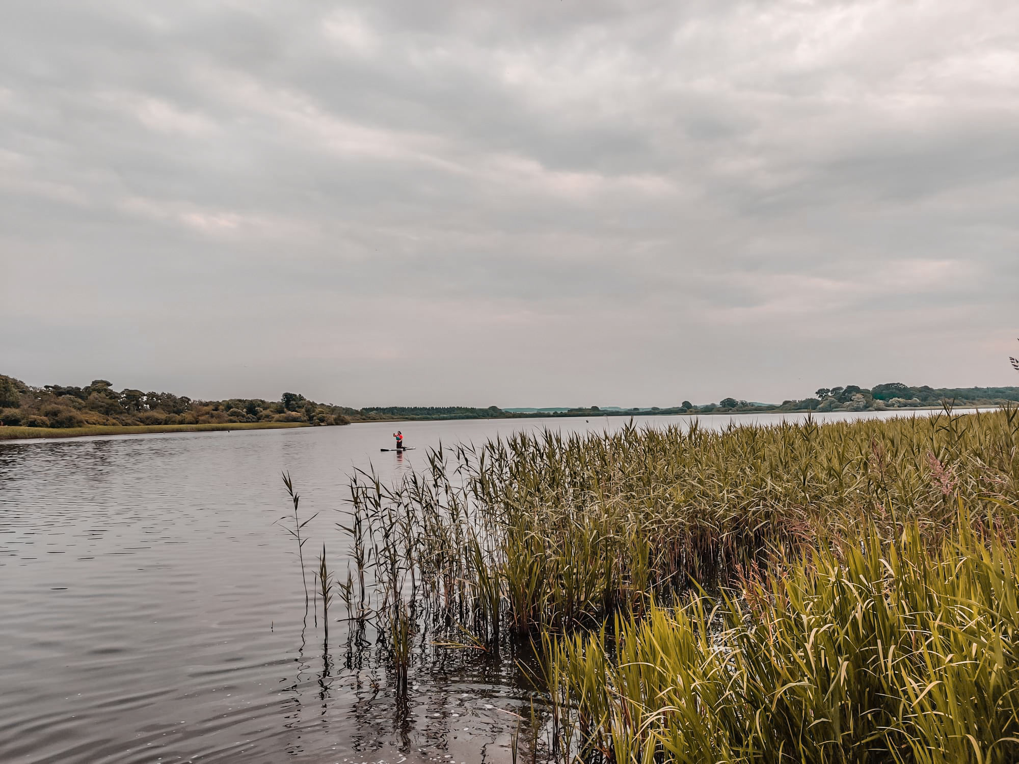 Stand Up Paddleboarding SUP on Castle Loch, Lochmaben