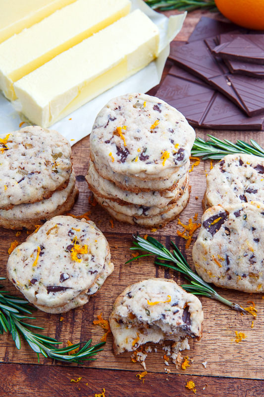 Chocolate Orange Rosemary Shortbread on Closet Cooking