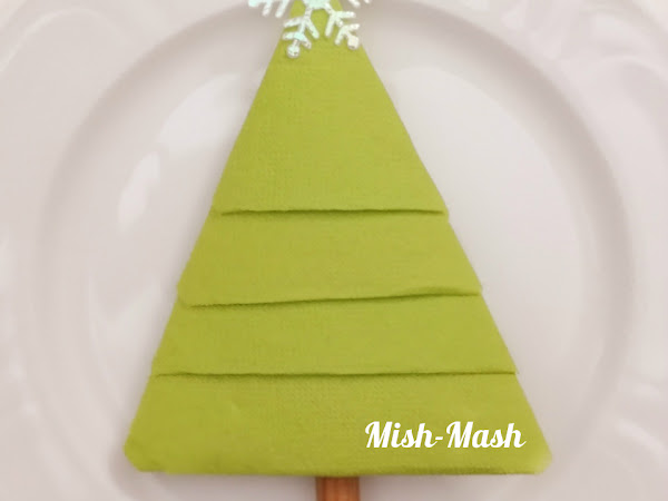 Салфетка Коледна елхичка