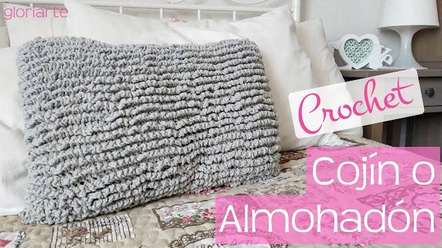 Hermoso Cojín o Almohada en Punto Astracán a Crochet