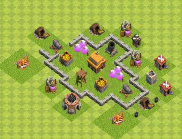 Base COC TH3 Trophy 5