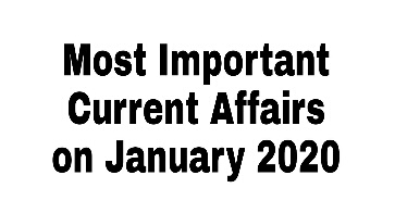 Current Affairs 2020: Important Daily Current Affairs
