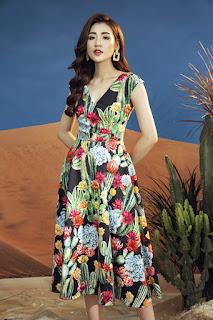 Tú Anh gợi ý váy hoa cho cả tuần