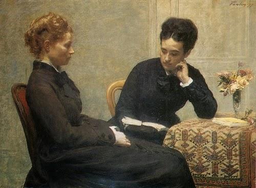 Leitura - Henri Fantin-Latour - Suas melhores pinturas ~ francês