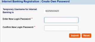 new password save