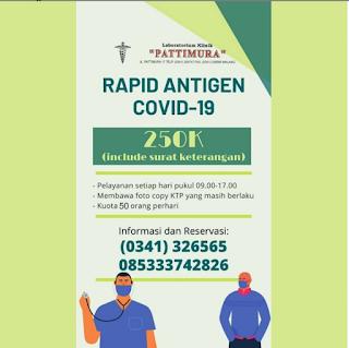 daftar biaya tes antigen di malang www.tikacerita.com