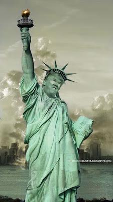 fotomontaggi Donal Trump-Statua della Libertà