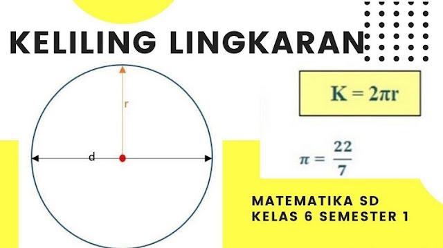 Cara Menghitung Keliling Lingkaran