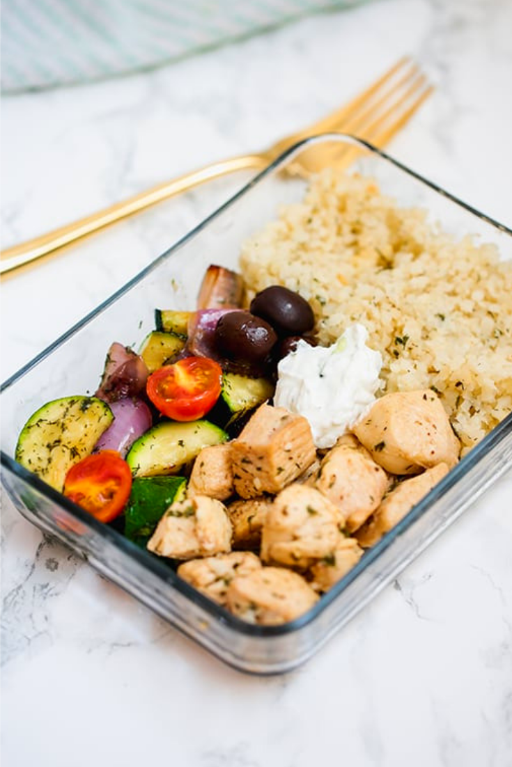 ONE PAN GREEK CHICKEN MEAL PREP
