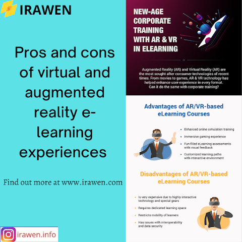 Pros and cons of virtual and augmented learning experiences |  Advantages and Disadvantages of augmented reality and Virtual Reality