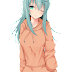 Tags: Render, Bikini, Green hair, Kantai Collection, Large Breasts, Long hair, Suzuya, Sweater