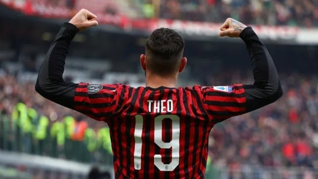 Theo's jet. An irreplaceable gift from Real Madrid to AC Milan