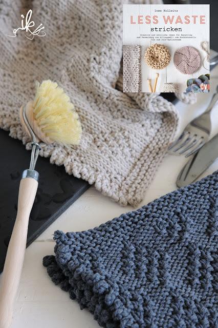 Geschirrhandtuch stricken Less Waste stricken von Ines Kollwitz