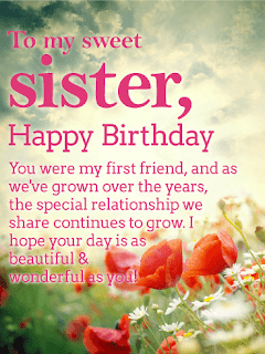 happy birthday sister,birthday wishes for sister