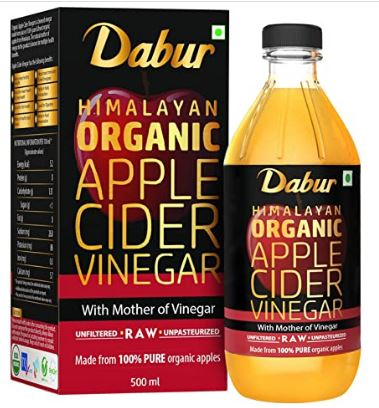 Dabur Himalayan Organic Apple Cider Vinegar with Mother of Vinegar 500 ml